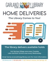 Garland County Library is now making home deliveries to the HSV area!