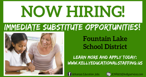Kelly Educational Staffing is Now Hiring Substitutes!